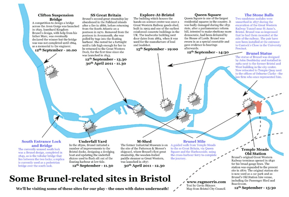 Brunel Tour Map
